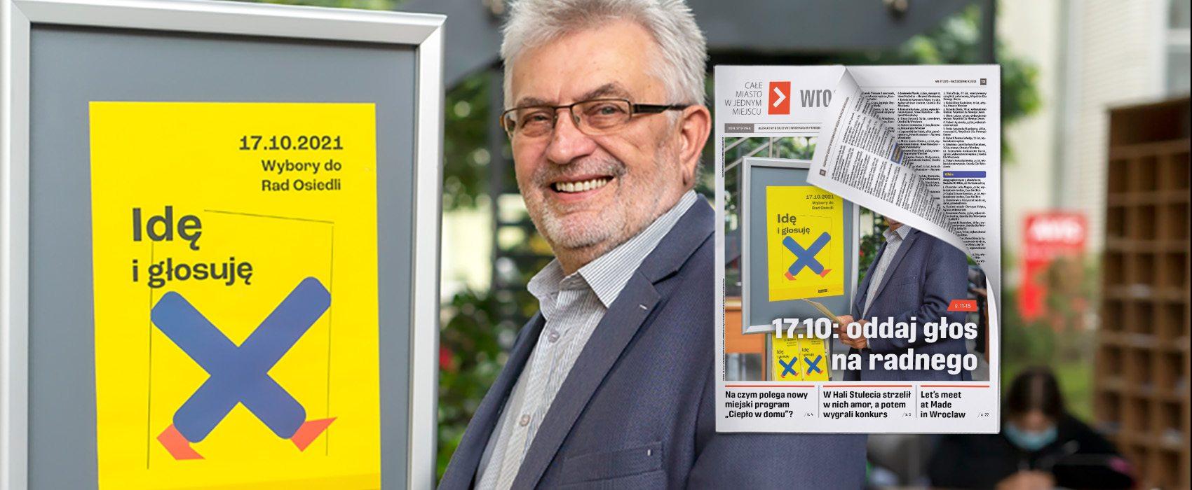 17.10.2021 r. wybory do rad osiedli, na zdjęciu: Andrzej Kubica, przewodniczący Miejskiej Komisji Wyborczej we Wrocławiu