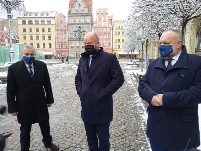 Grzegorz Schetyna, Jacek Sutryk i Jarosław Duda