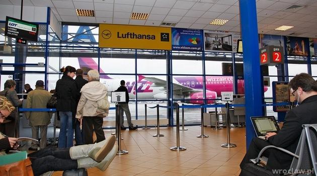 Hala Odlotów w Wrocław Airport - kiedyś