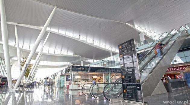 Hala Odlotów Wrocław Airport - teraz