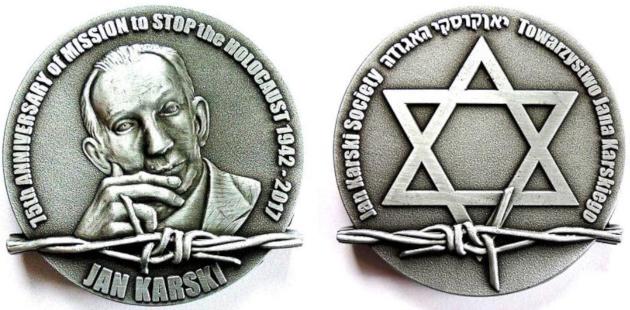 Medal 75-lecia Misji Jana Karskiego