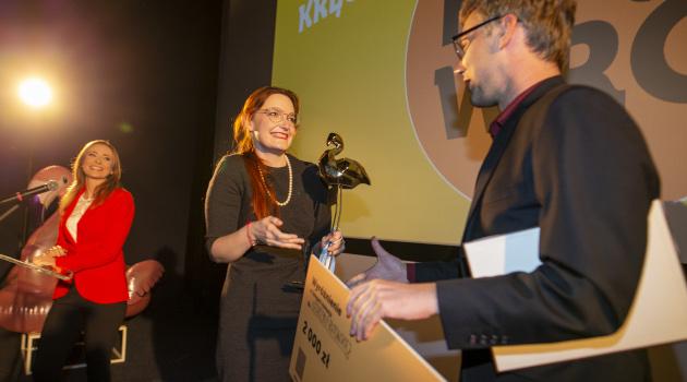 Wyróżnienie w konkursie Kręć Wrocław odbiera Katarzyna Rutowska