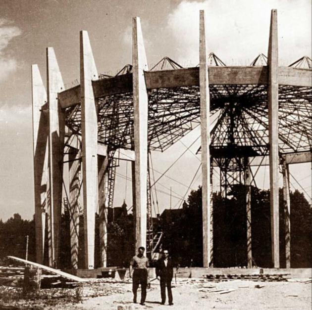 budowa rotundy, fot. Muzeum Narodowe we Wrocławiu