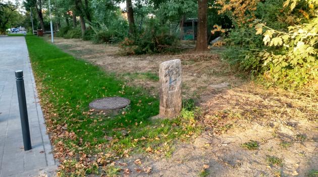 Słupek profesora Steinhausa zmienił adres i stoi obecnie przy ul. Pautscha.