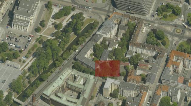 przybliżone położenie Nowej Synagogi we Wrocławiu
