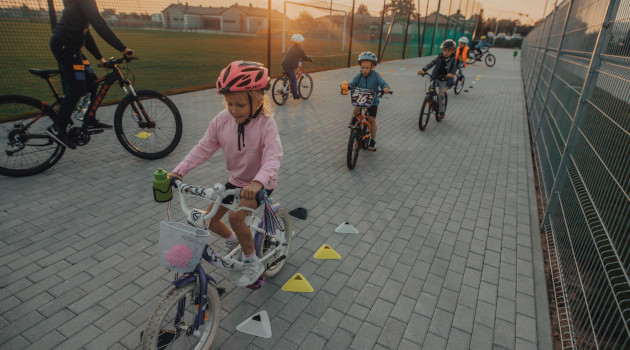 Zajęcia rowerowe dla dzieci w ramach Akademii GVT, fot. Andrzej Gucwa