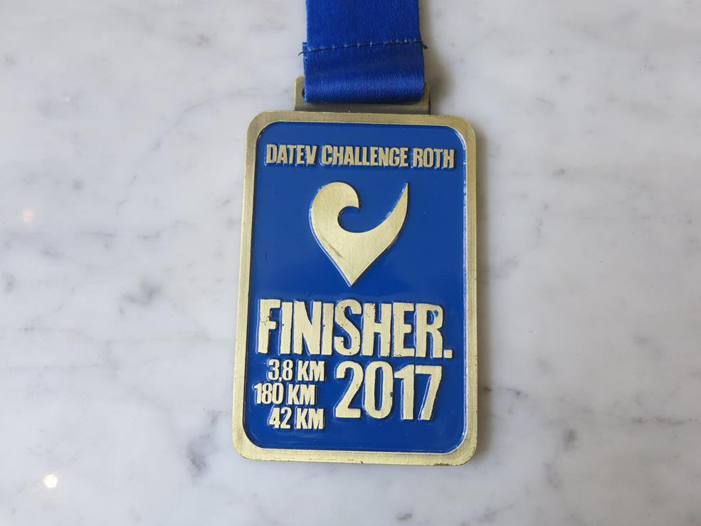 Medal ukończenia Challenge Roth