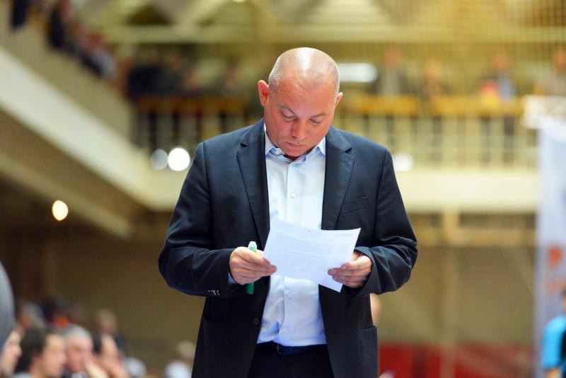 Trener Arkadiusz Rusin, mimo zwycięstwa, pozostaje ostrożny w ocenie szans Ślęzy na awans do kolejnej rundy, fot. Ślęza Wrocław