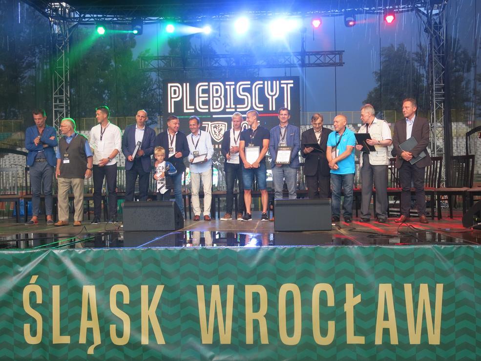 Prezentacja jedenastki 70-lecia WKS Śląsk Wrocław