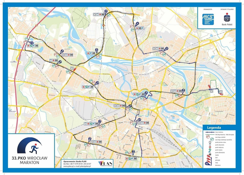 33 Pko Wroclaw Maraton Nowa Trasa Mapa Www Wroclaw Pl