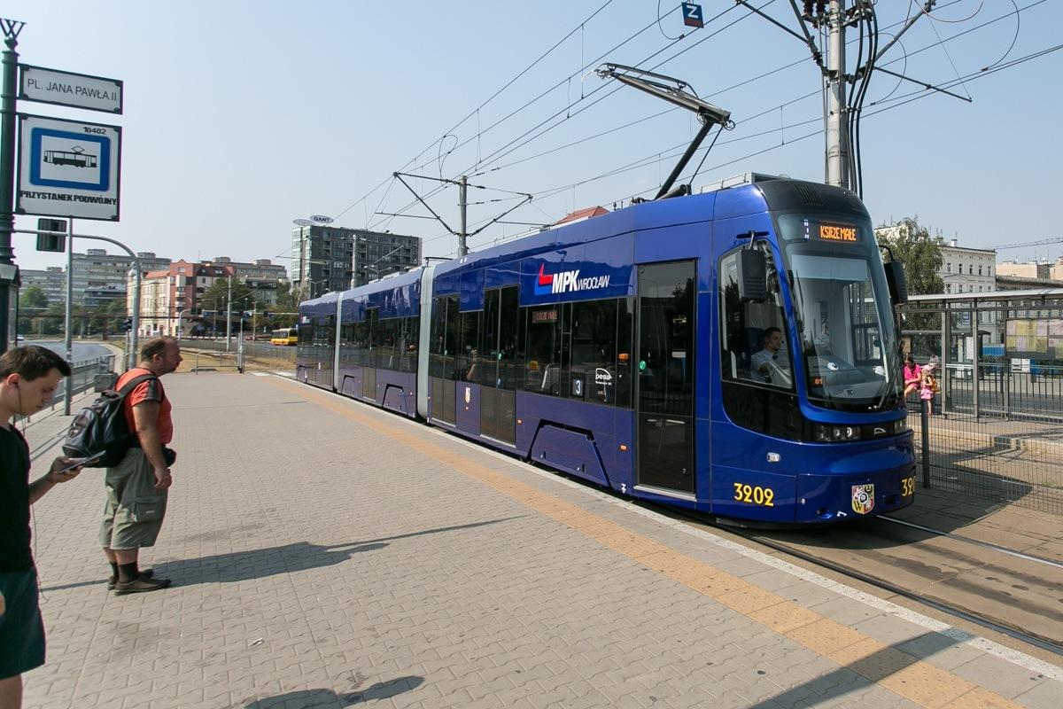 Znalezione obrazy dla zapytania tramwaje wrocław