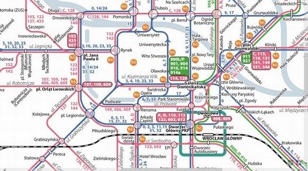Nowa Mapa Komunikacji Miejskiej Www Wroclaw Pl