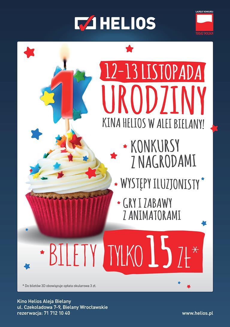 Zaproszenia Na Urodzinowe Seanse Kina Helios Bielany Wwwwroclawpl