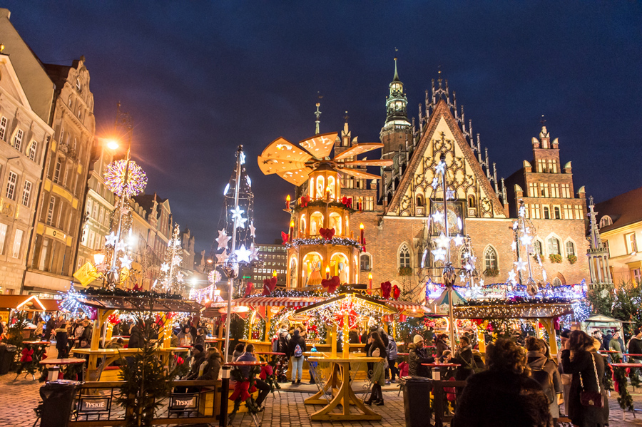 Znalezione obrazy dla zapytania Jarmark bożonarodzeniowy wrocław