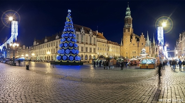 Christmas tree at the Wroclaw Market Square