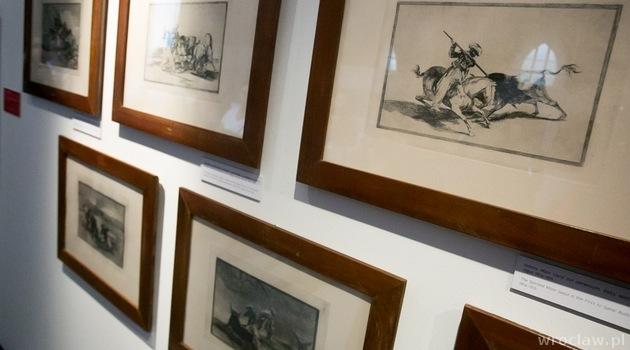 """Wystawa """"Picasso/ Dali/ Goya – Tauromachia, walka byków"""" – otwarta od 24 lipca do 16 listopada w Muzeum Architektury. fot. Tomasz Walków"""