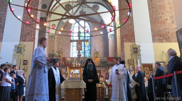 Λείψανα του Τιμίου Σταυρού και του Αγίου ..  Η Μαρία η Μαγδαληνή Ορθόδοξη Εκκλησία στο Wroclaw