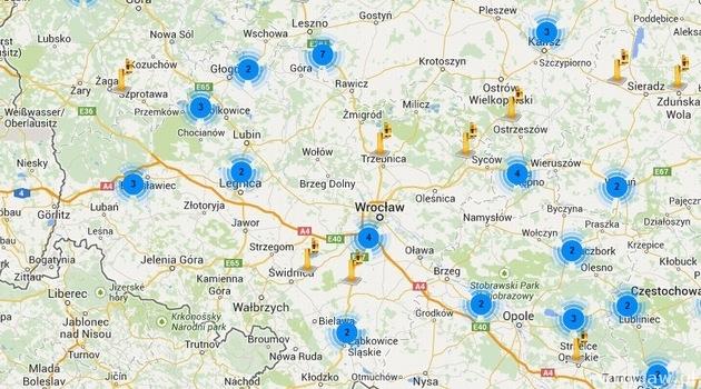 breslau karte Karte der Radargeräte in Breslau und Umgebung | .wroclaw.pl