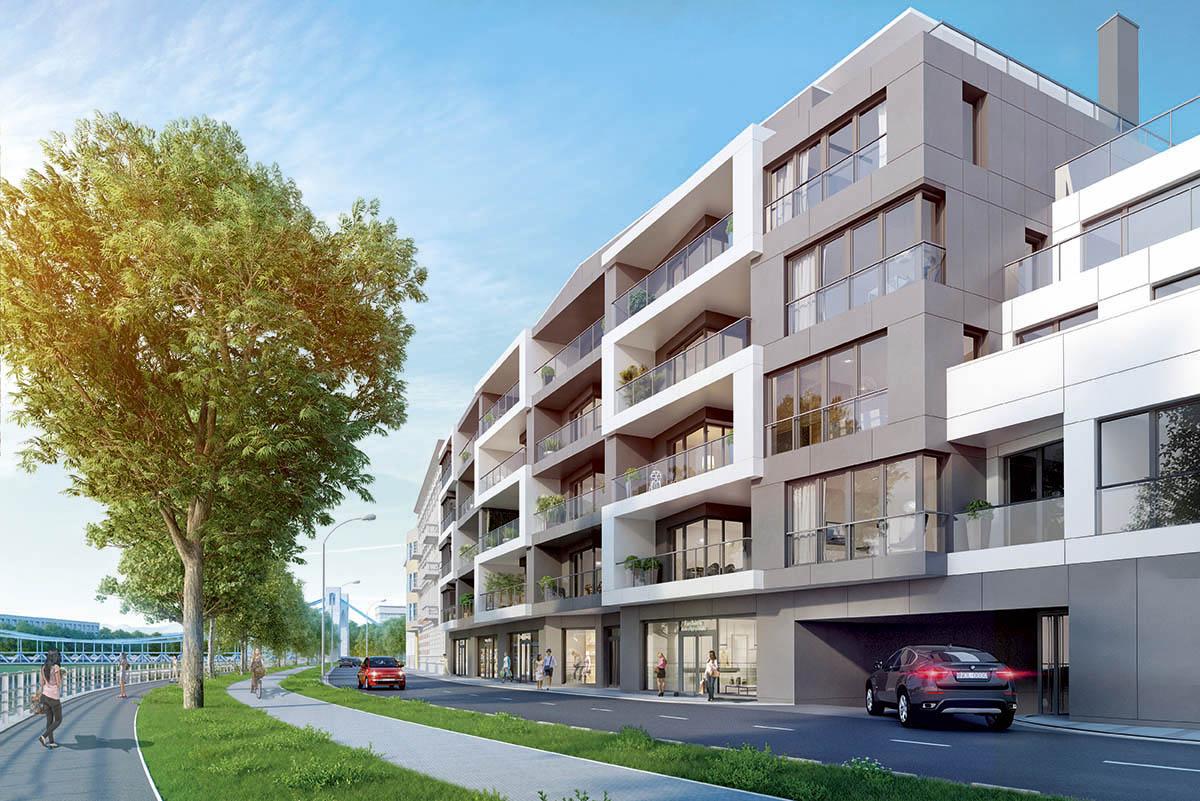 Góra Nowy apartamentowiec nad Odrą | www.wroclaw.pl WY46