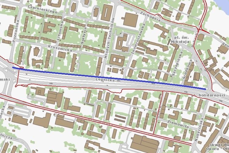 Droga rowerowa na Legnickiej