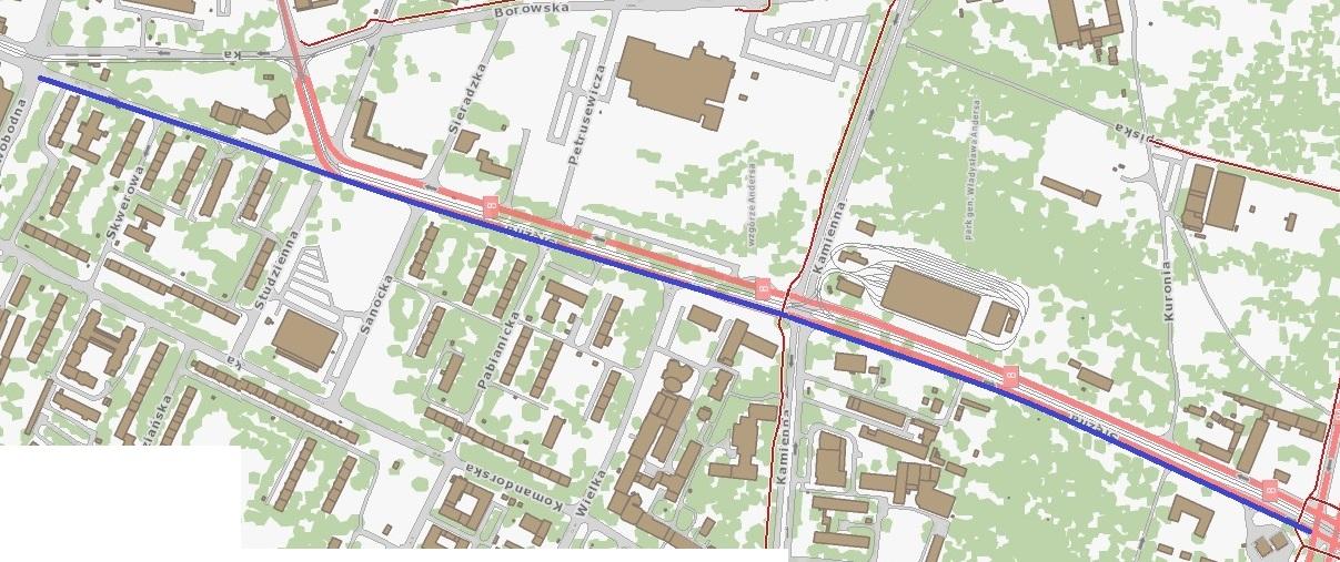 trasa na ul. Ślężnej