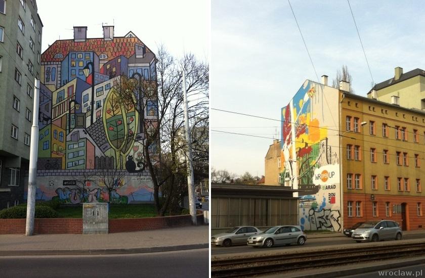 murale przy ul. Sienkiewicza