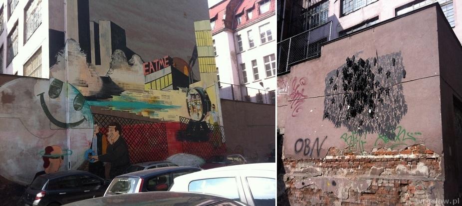 murale w okolicach Dworca Głównego