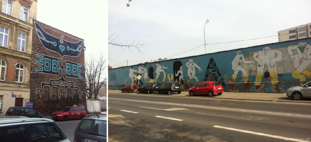 murale przy pl. Jana Pawła II