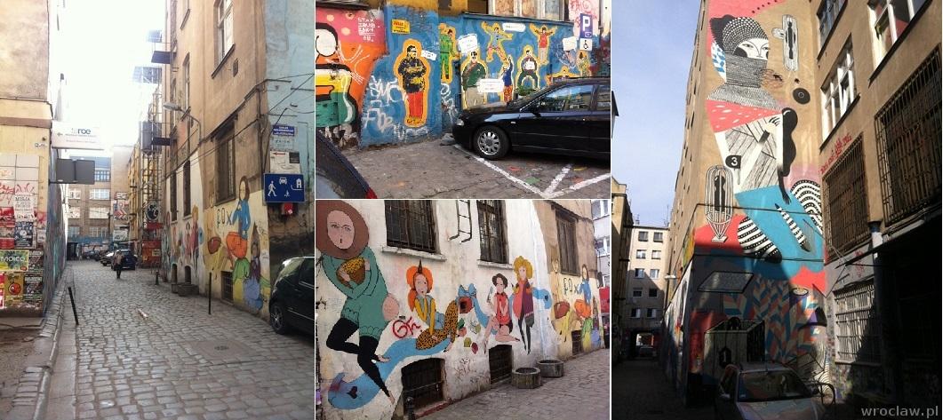 murale w podwórku przy ul. Ruskiej