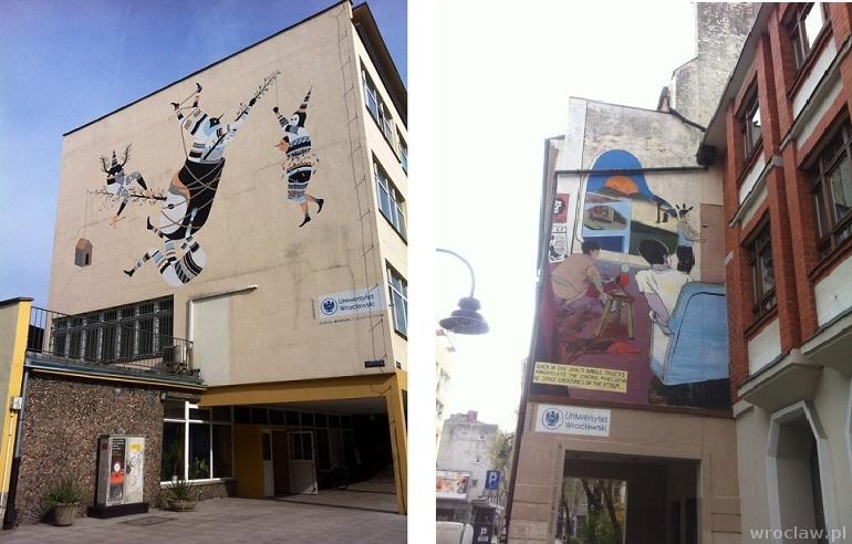 murale Uniwersytetu Wrocławskiego