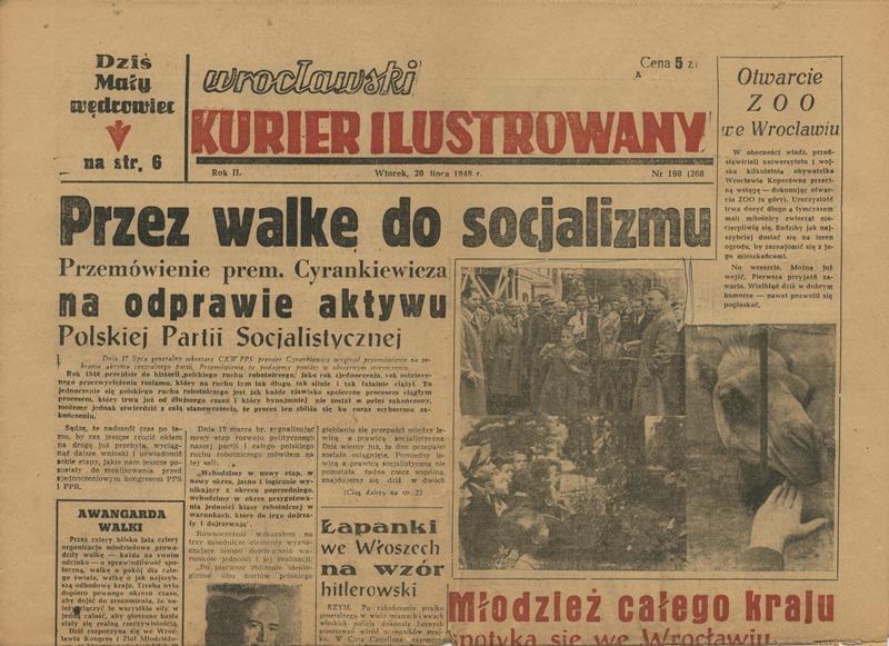 kurier z 1948 wrocław