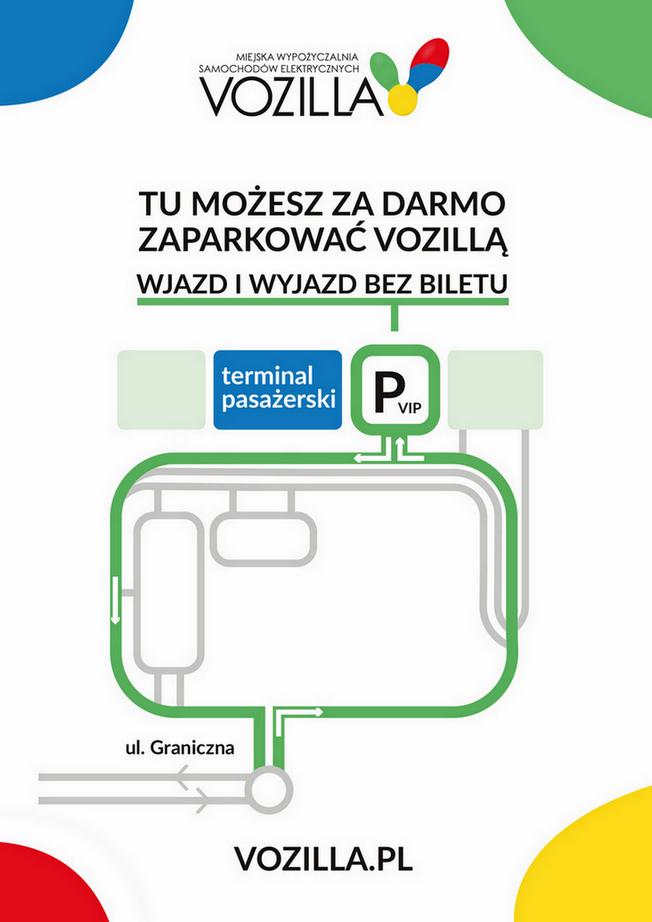Mapa miejsc parkingowych VOZILLI na wrocławskim lotnisku