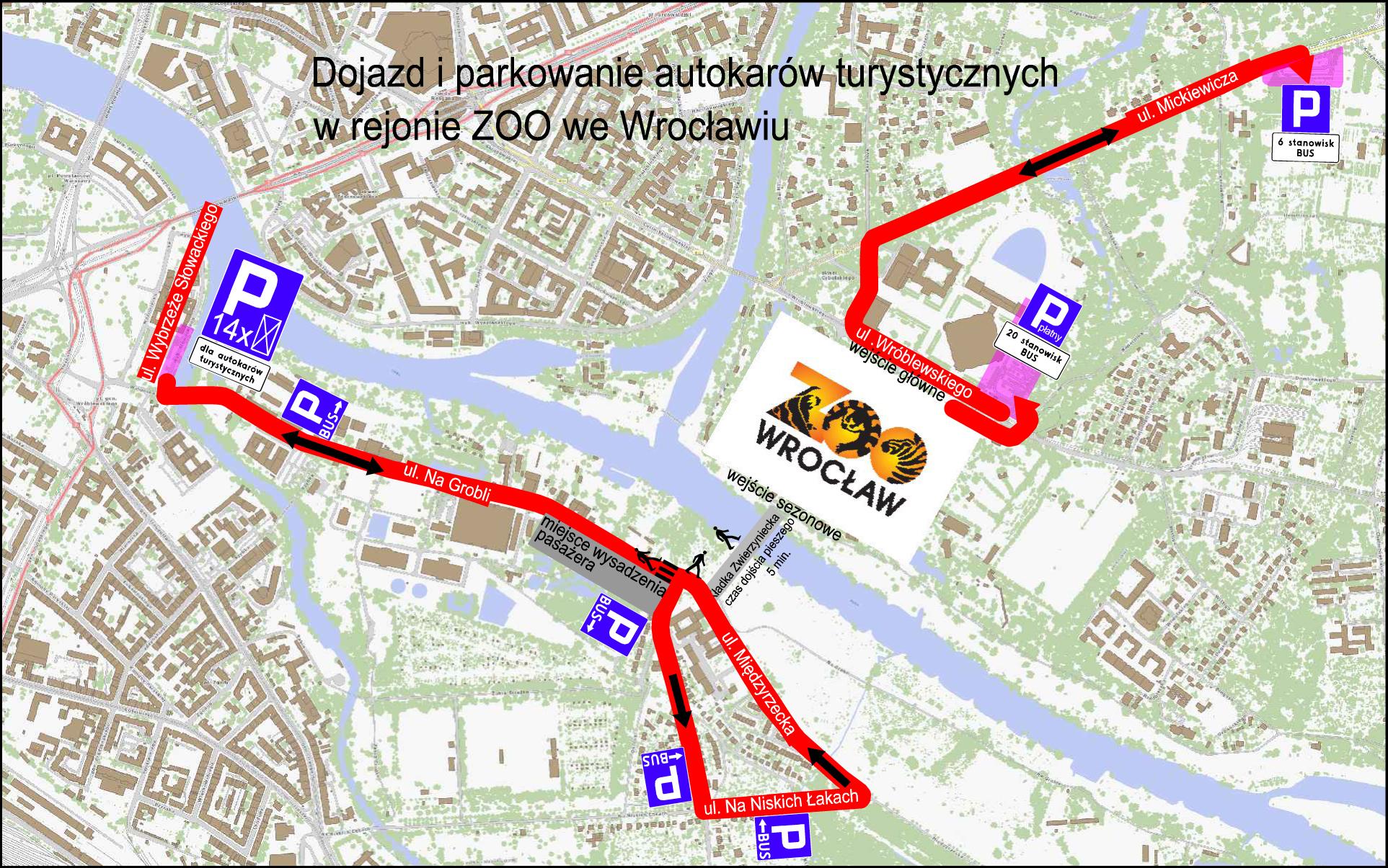 Afrykarium Wroclaw Parkowanie Mapa Parkingow Www Wroclaw Pl