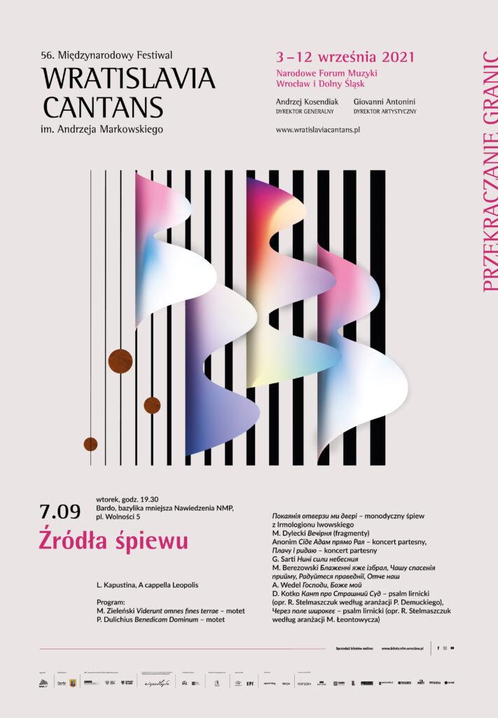 Wratislavia Canatans 2021, oficjalny plakat festiwalu