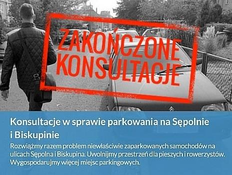 Konsultacje w sprawie parkowania na Sępolnie i Biskupinie