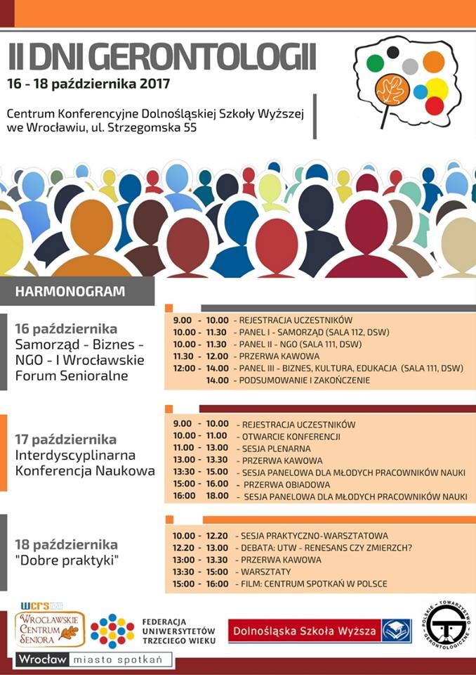 Program Dni Gerontologii – Wrocław 2017, WCS Wrocław
