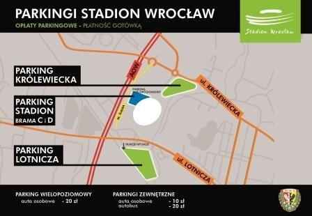 Parkingi - mecz Śląska z Legią Warszawa