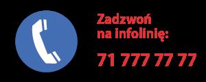 71 777 77 77 - zadzwoń na infolinię Urzędu Miejskiego Wrocławia
