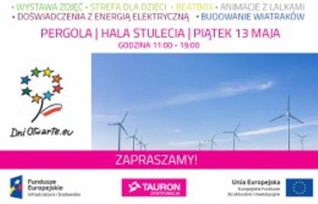 """Dni Otwarte Funduszy Europejskich – piknik Tauron """"Pozytywna energia""""na Pergoli"""