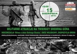 """Inscenizacja """"Bitwy o złoto Dolnego Śląska"""" w twierdzy Srebrna Góra"""