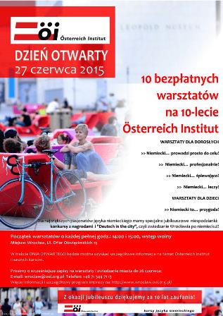 Poznajmy się na niemieckim! Dzień Otwarty w Österreich Institut Wrocław