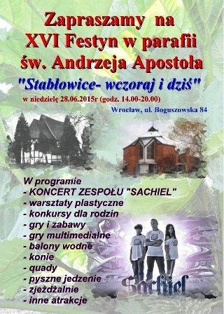 """""""Stabłowice wczoraj i dziś""""  – XVI festyn w parafii św. Andrzej Apostoła"""
