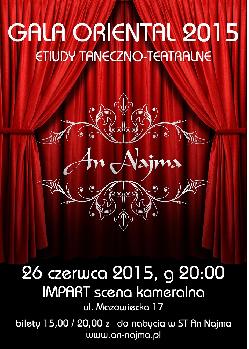 GALA ORIENTAL2015, ETIUDY TANECZNO-TEATRALNE
