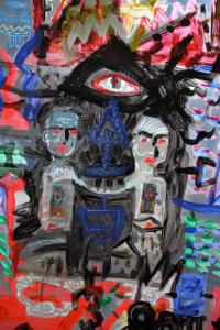Nasz Kosmos - wystawa malarstwa i akcja pracowni 208 ASP prof. Krzysztofa Skarbka