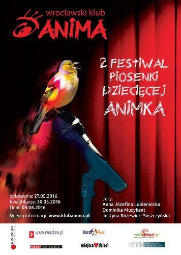II edycja festiwalu piosenki dziecięcej ANIMKA