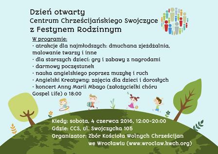 Dzień otwarty Centrum Chrześcijańskiego Swojczyce