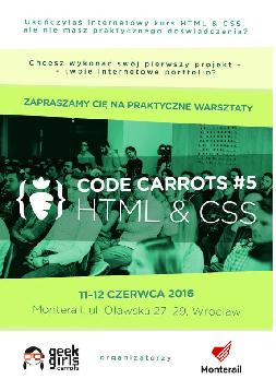 WrocLove Code Carrots #5 HTML & CSS