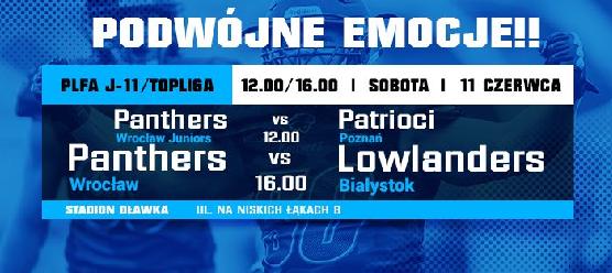 Futbolowa sobota we Wrocławiu – dwa mecze Panthers