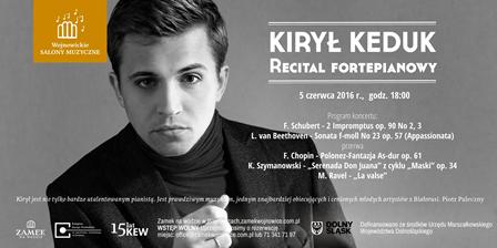 Recital Kiryla Keduka – Wojnowicki Salon Muzyczny