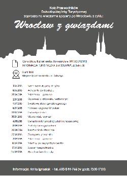 Wrocław z gwiazdami - wieczorny spacer z przewodnikiem i niespodzianką